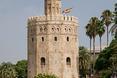 Architektura Sewilli. Wakacje 2013 - zobacz Torre del Oro w Sewilli