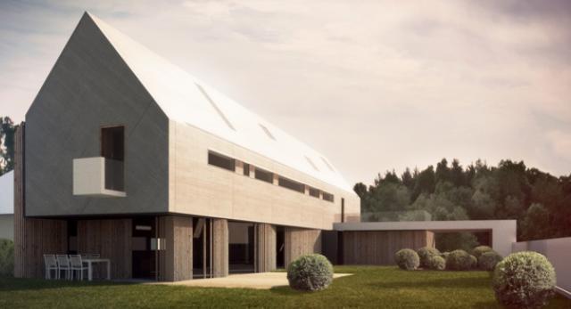 Architektura Gdyni. Zobacz nową bryłę ekologicznego domu projektu Pracowni 111