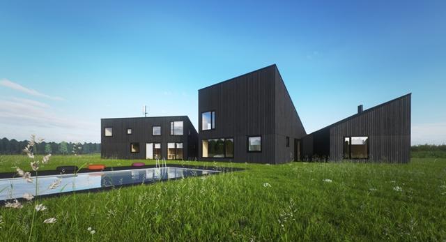 Architektura Domu w szczerym polu. Zobaczcie bryłę projektu Ultra Architects. Galeria