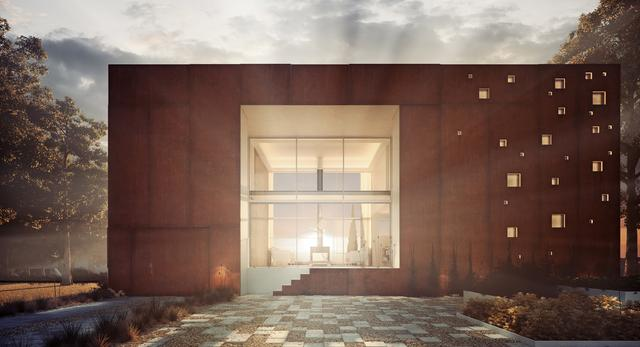 Niecodzienna architektura domu w projekcie Dom-rama pracowni 81.waw.pl!