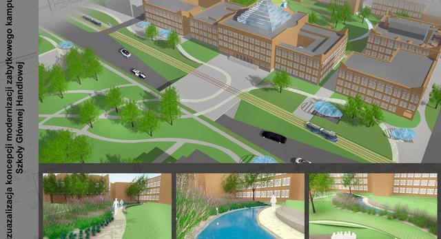 Konkurs na projekt kampusu SGH. Nowa architektura krajobrazu kampusu SGH- zobaczcie zwycięski projekt!