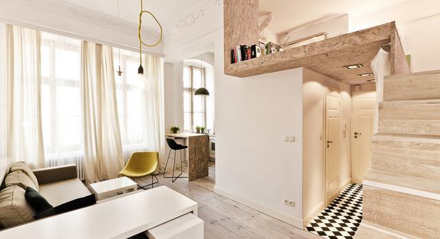 Kawalerki i małe mieszkania. Jak urządzić małe wnętrza. Zobaczcie nagrodzone małe mieszkanie autorstwa 3XA