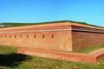 Jeden z zachowanych bastionów obronnych w Zamościu. Znajduje się tu szlak turystyczny