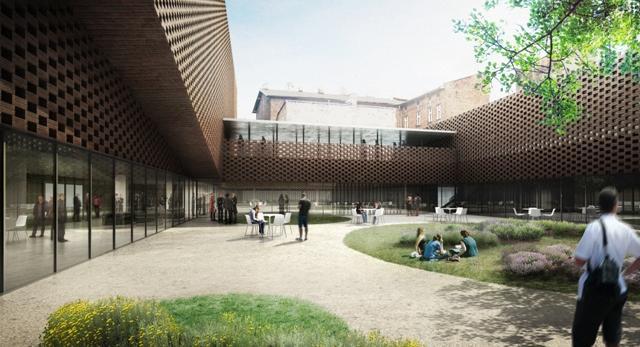 Architektura Katowic. Rusza budowa Wydziału Radia i Telewizji Uniwersytetu Śląskiego autorstwa Grupa 5 Architekci i BAAS.