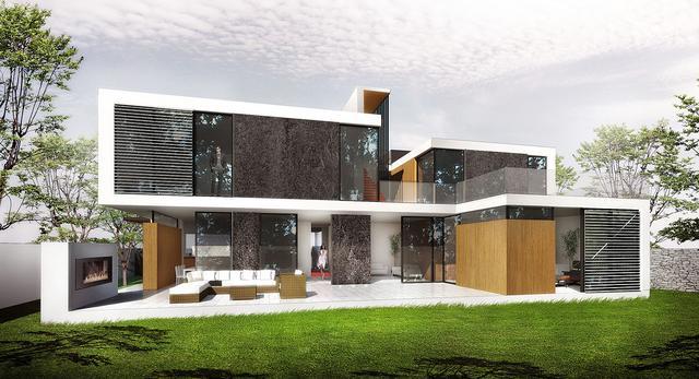 Architektura niczym z Jamesa Bonda. Projekt domu jednorodzinnego Skyfall autorstwa  BXBstudio