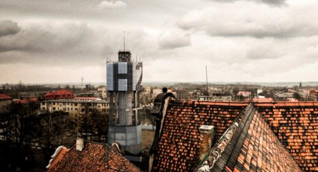 Architektura Bytomia: wieża ciśnień w Bytomiu. Projekt H20 autorstwa medusa group. Jak zagospodarować zagrożoną wieżę ciśnień