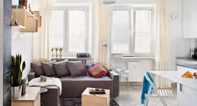 Mieszkanie ma tylko 30 m2, ale jest funkcjonalne i nowoczesne