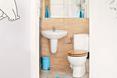 Zadbano także o wygląd niewielkiej łazienki