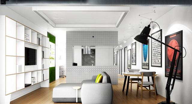 Architektura wnętrz. Szare wnętrze projektu 81.WAW.PL. Jak oswoić szarości w mieszkaniu?