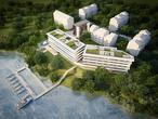 Architektura. Bryła Lake House nad Zegrzem projektu Open Architekci. Luksusowa inwestycja z basenem i prywatną przystanią pod Warszawą. Znamy ceny apartmantów!