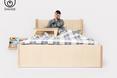 W kolekcji znalazło się również wygodne łóżko dla pracusia