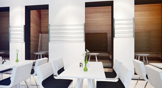 Zaprojektowanie wnętrza jako otwartego pozwala stworzyć z głównej sali, przestrzeń wielofunkcyjną