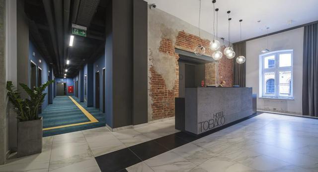 Architektura Łodzi. Bryła Hotelu Tobaco w dawnej fabryce papierosów. Projekt architektura wnętrz: studio ec5