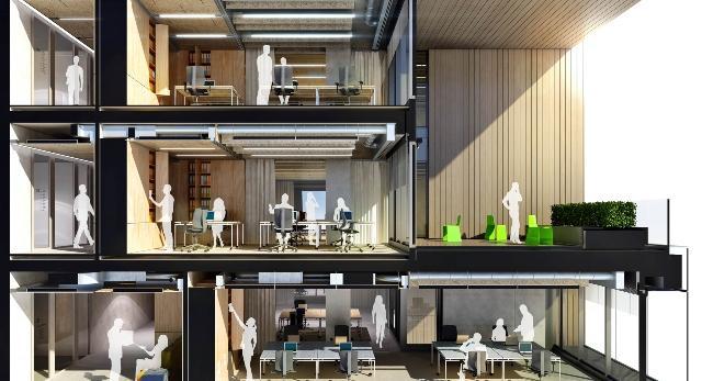 Bryła Pixel- nowa siedziba Allegro w Poznaniu.  Jak architekci z Ultra Architects zaprojektowali wnętrza siedziby największego serwisu aukcyjnego w Polsce