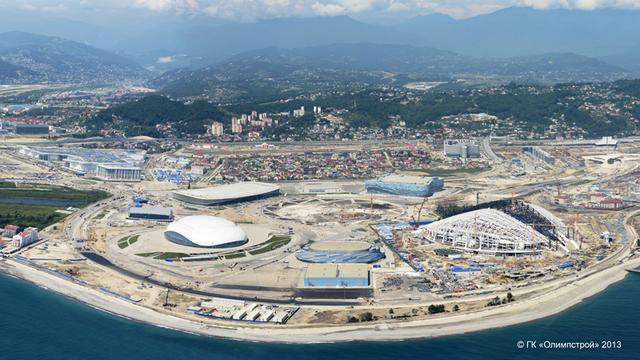 Panorama Parku Olimpijskiego w Soczi