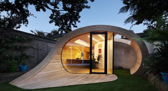 rchitektura wnętrz: biuro w ogrodowym pawilonie? Niezwykły projekt Shoffice w Londynie