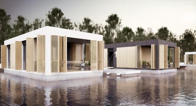Dom na wodzie, czyli architektura przyszłości? Projekt dyplomowy Agnieszki Cicheckiej