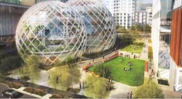 Niesamowity projekt siedziby firmy Amazon w Seatle