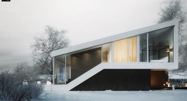 Dom skocznia, czyli minimalistyczna bryła w górskim krajobrazie. Projekt pracowni 81.WAW.PL