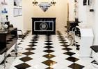 Nowoczesna aranżacja wnętrza salonu kosmetycznego w Edynburgu zaprojektowana przez polską pracownie Michel Design