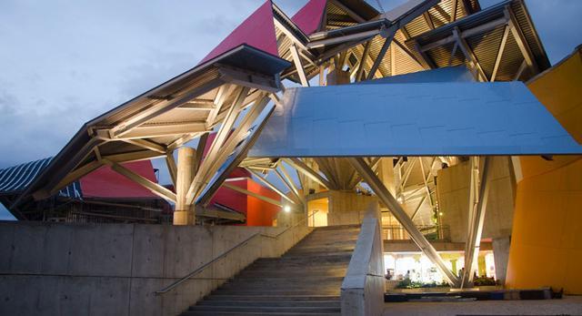 Biomuzeum w Panamie - Frank Gehry -widok na schody