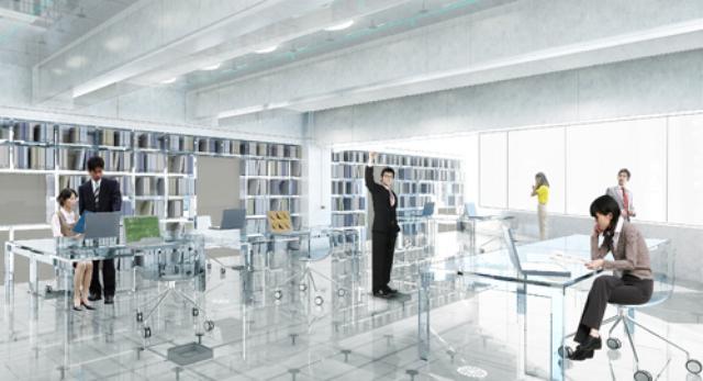 Szklane podłogi, szklane meble i ściany... nowy projekt MVRDV