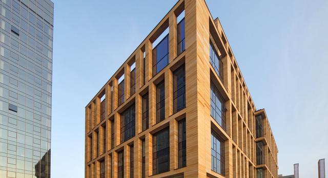 Bryła nowego biurowca w Warszawie - Gdański Business Center