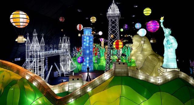 Architektura i diody LED w chińskich lampionach