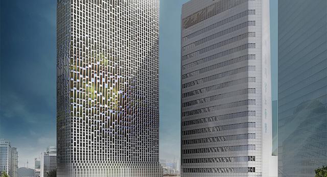 Ben van Berkel/ UNStudio. I nagroda w konkursie architektonicznym na projekt centrali Hanwha w Seulu
