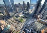 Lustrzane bryły drapaczy chmur w Nowym Jorku i nowe centrum komunikacyjne