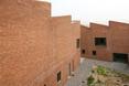 Wewnętrzny dziedziniec domu - pracowni Twin Studio Houses