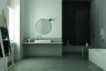 Łazienka w stylu klasycznym z betonem architektonicznym na podłodze