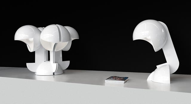 Lampa Ruspa, projekt Gae Aulenti, włoski design XX wieku