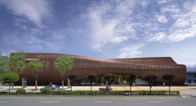 Bryła Land Experience Center w Chinach autorstwa Ping Jiang z biura AEDAS