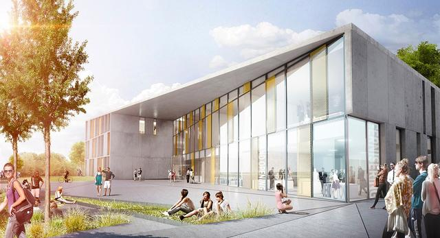 Bryła szkoły zawodowej w Danii projektu pracowni architektonicznej C.F. Møller