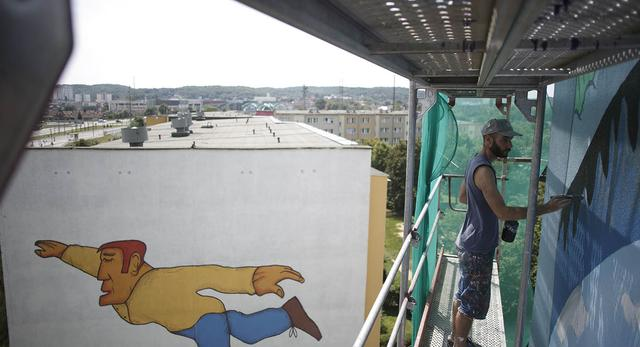 Murale na bryły bloków! Monumental Art 2014