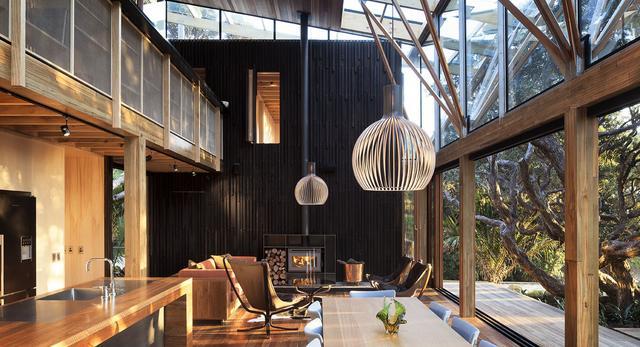 Dom nad morzem w Nowej Zelandii