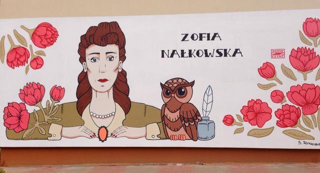 Mural z wizerunkiem Zofii Nałkowskiej