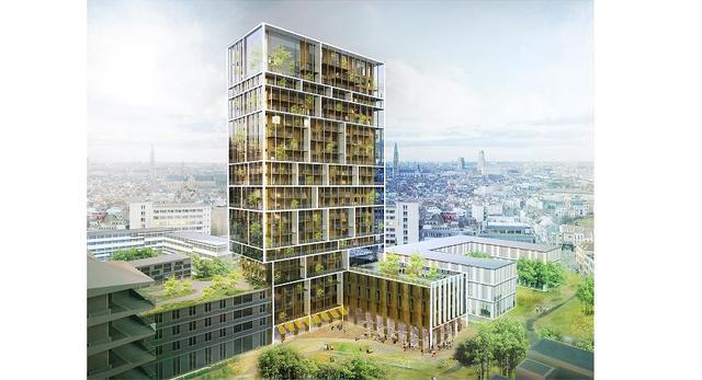 Bryła wieżowca mieszkalnego w Antwerpii. Konkurs wygrali architekci z C.F. Møller and Brut