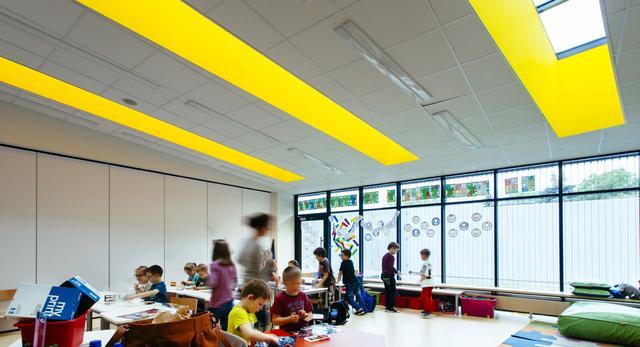 Architektura wnętrz Centrum Edukacji i Sportu: sala dla najmłodszych