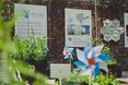 Projekty na wystawie BMW/URBAN/TRANSFORMS zostału umieszczone na ścianach fabryki Norblina