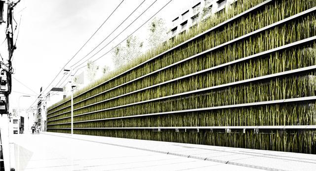 Zielona powierzchnia w centrum Tokio. Czy to wygląda jak parking?
