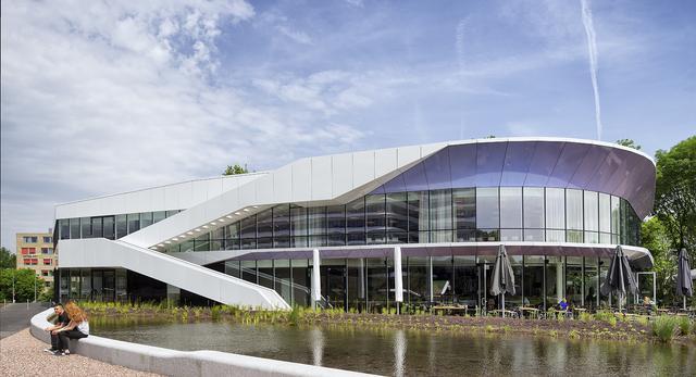 Bryła pawilonu dla Miasta Ogród w holenderskim Groningen