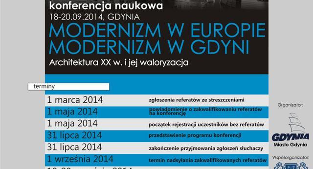 """Konferencja """"Modernizm w Europie - Modernizm w Gdyni. Architektura XX wieku i jej waloryzacja"""""""