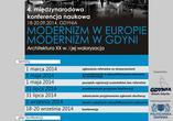 Konferencja: Modernizm w Europie - Modernizm w Gdyni. Architektura XX wieku i jej waloryzacja
