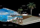 Bryła z basenem oferuje podróż 3D do głębin oceanu. Wystarczą ekrany LED