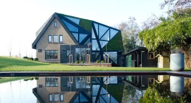 Willa w Rotterdam projektu Ooze Architects z Holandii