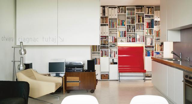 Wnętrze zmodernizowanego mieszkania na Pradze