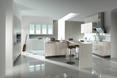 Imitujący beton architektoniczny produkt Haecker AV 2080 Beton natur firmy Häcker w aranżacji wnętrz kuchni