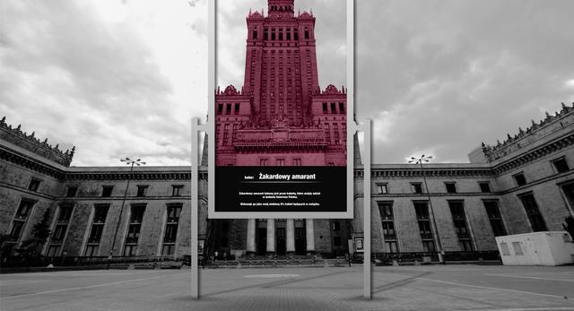 Pałac Kultury w Warszawie. A gdyby tak przemalować go na czerwono (tj. na żakardowy aramant)?